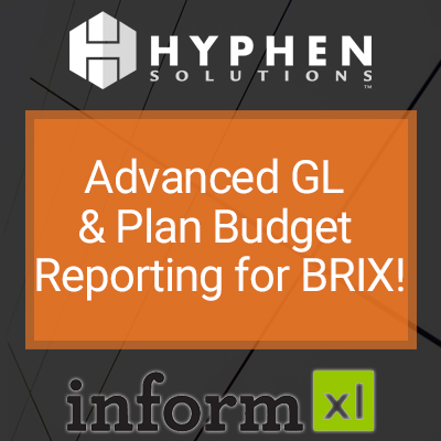 WEBINAR: Advanced GL and Plan Budget Reporting for BRIX!