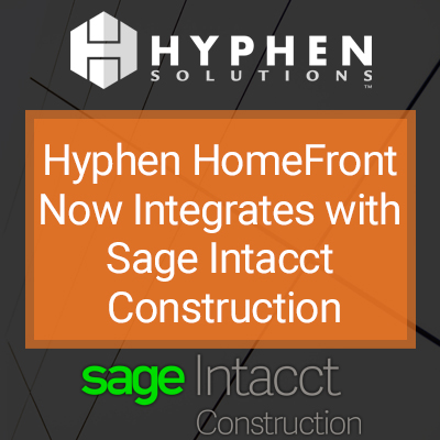 Webinar: Hyphen HomeFront Now Integrates with Sage Intacct Construction